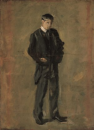 """The Thinker: Portrait of Louis N. Kenton - Study for """"The Thinker"""", Farnsworth Art Museum, Rockland, Maine"""