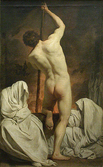 Figure drawing - A transcended academy figure by neoclassical painter Pierre Subleyras