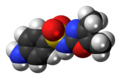 Sulfamoxole molecule spacefill.png