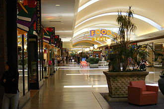 Sunrise Mall (Citrus Heights, California) - An indoor view looking in the direction of the food court