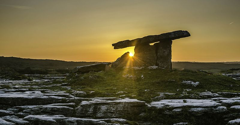 File:Sunset @ The Poulnabrone Dolmen, The Brren, Pic by Frank Chandler.jpg