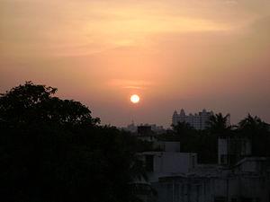 Kodambakkam - Image: Sunset Chennai
