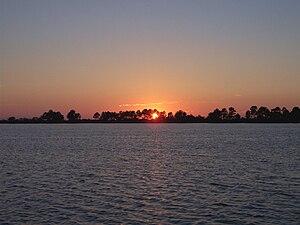 Bon Secour, Alabama - Looking west over Bon Secour Bay