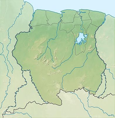 Location map Suriname