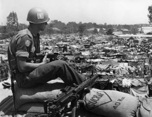 United Nations Operation in the Congo - A Swedish soldier of ONUC in the Congo