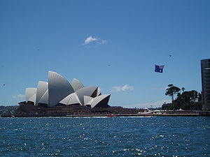 Sydney Opera House on Australia Day