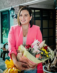 Sylvia Sanchez at the contract renewal of Sylvia Sanchez by Beautederm, April 2019.jpg