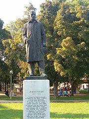 Juhász Gyula szobra Szegeden