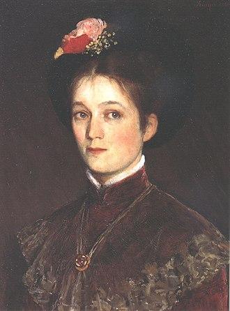 Pál Szinyei Merse - Portrait of the Artist's Wife, Zsófia (1880)