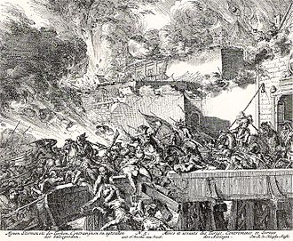 Breakout (military) - Battle of Vienna 1683, the garrison in the city attacked the Turkish rear