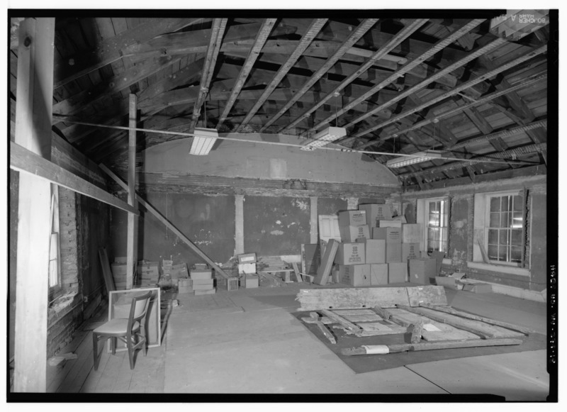 File:THIRD FLOOR INTERIOR VIEW FROM WEST - Masonic Hall, Shenandoah Street, Harpers Ferry, Jefferson County, WV HABS WVA,19-HARF,36-18.tif