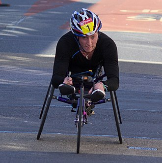 Best Female Athlete with a Disability ESPY Award - Image: T Mc Fadden London Marathon 2014 Wheelchair (65)