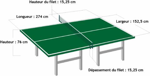 r232glement balle table rs10 tennis de table