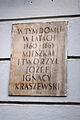Tablica upamiętniająca Józefa Ignacego Kraszewskiego na ul. Mokotowskiej 48 w Warszawie.JPG