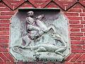 Tafel des Heiligen Georgs am Gemeindehaus der St. Jürgen-Kirche (Flensburg), Jürgensgaarder Straße 1, Bild 01.JPG