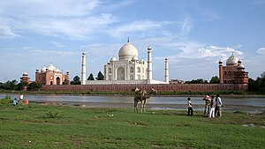 Taj Mahal world heritage site in Agra, India.