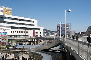Takatsuki Station (Osaka) - View from the deck seen on the picture above