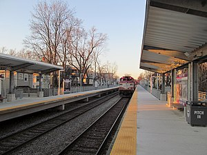 Talbot Avenue MBTA with train.JPG