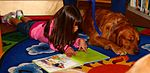 Tales for tails, exceptional family members read for exceptional pooches 130213-M-OB827-041.jpg