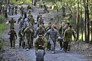 Enoggera Barracks - US and Australian soldiers at Enoggera Barracks during Talisman Sabre