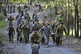Enoggera Barracks - US and Australian soldiers at Enoggera Barracks during Talisman Sabre