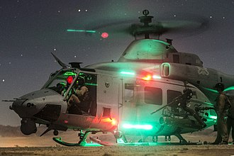 Bell UH-1Y Venom - UH-1Y refueling at night