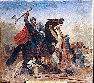 "Jérusalem - ""Tancred of Hauteville, the siege of Jerusalem"" by Émile Signol"