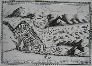 English Tangier - Map of Tangier under English rule, 1680