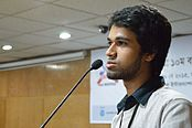 Tanweer Morshed Speaks - Growth and Progress of Bangladeshi Wikimedia Community - Bengali Wikipedia 10th Anniversary Celebration - Daffodil International University - Dhaka 2015-05-30 1641.JPG