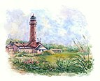 Taran Lighthouse Kalinigrad Oblast Tatiana Yagunova Watercolor painting.jpg