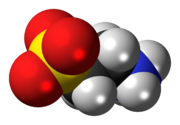Space-filling model of the taurine zwitterion{{{画像alt2}}}