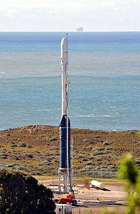 Taurus with Glory on launch stool at VAFB 576-E 02.jpg