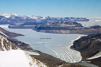Blood Falls - Blood Falls, at the toe of Taylor Glacier,  2013