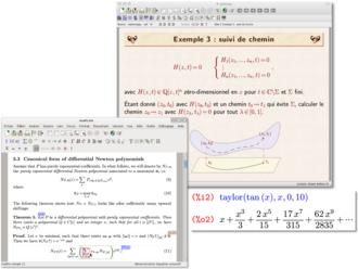 GNU TeXmacs - Image: Te Xmacs screenshots