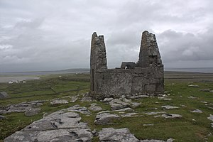 The Amazing Race 12 - While in Ireland, teams rested overnight at Teampull Bheanáin around Inishmore on the Aran Islands.