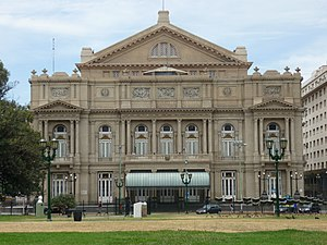 Western entrance of the Colón Opera House, Bue...