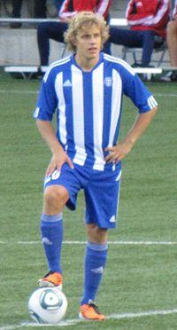 Teemu Pukki ottelussa HJK - FC Schalke 04.