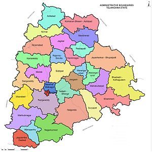 List of districts in Telangana   Wikipedia