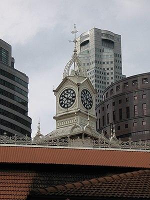 Lau Pa Sat - The distinctive clock tower of Telok Ayer Market.