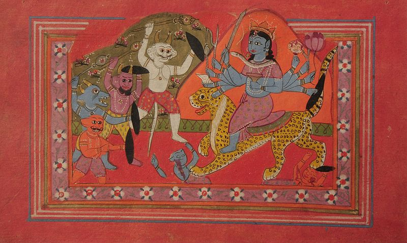 File:Ten-armed Devi annihilating demons - Unknown, Kashmir School - Google Cultural Institute.jpg