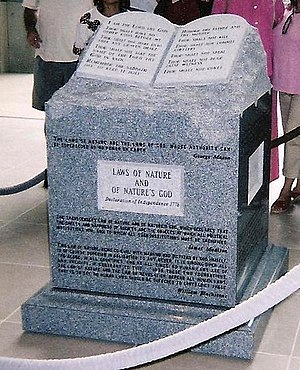 Roy Moore - The Ten Commandments monument in the Alabama Supreme Court building, erected in 2001