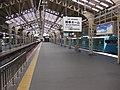 Tennnoji station platform roof.jpg