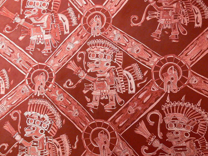 Teotihuac%C3%A1n - Palacio de Atetelco Wandmalerei 3.jpg