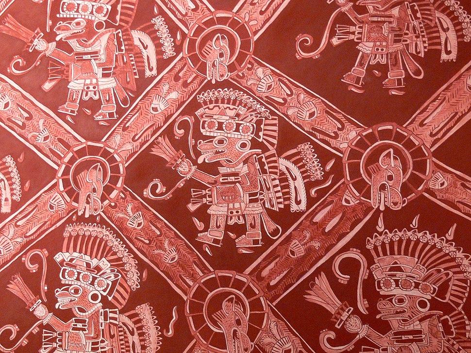 Teotihuac%C3%A1n - Palacio de Atetelco Wandmalerei 3