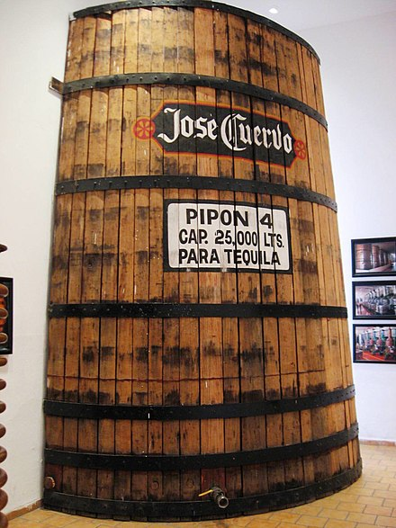 Tequila Fermentation Vessel in City of Tequila Museum TequilaFermentationVatMuseum.JPG