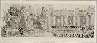 Acis et Galatée - Image: Théâtre installé dans la cage d'escalier des Ambassadeurs