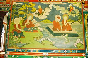 Un thangka del Namgyal Institute of Tibetology