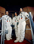 The Apollo 9 crew is shown suited up for a simulated flight.jpg