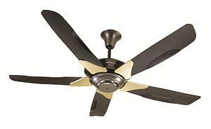 Ceiling fan - A modern ceiling fan