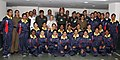 The Chief Minister of Delhi, Smt. Sheila Dikshit in a group photo after flagging-in the NCC Girls Mountaineering Expedition Team, in New Delhi on September 29, 2011. The DG, NCC, Lt. Gen. P.S. Bhalla is also seen.jpg